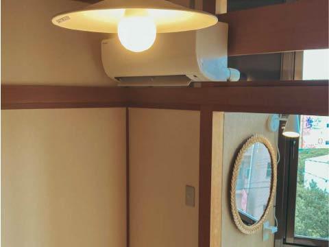 ホステルのアサ 客室照明
